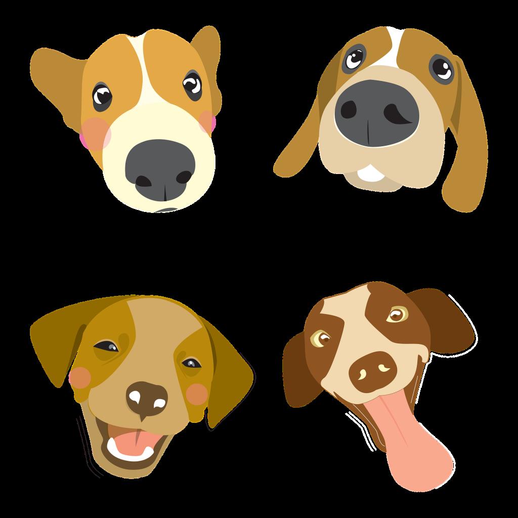 4 hunde er glad og har det godt, hundepension